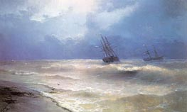 White-Caps on the Coast of the Crimea | Aivazovsky | Painting Reproduction