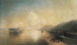 The Volga at Zhigulev Hills, 1887 by Aivazovsky | Painting Reproduction