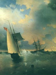 The Windjamer, Sailing-Ship, 1859 by Aivazovsky | Painting Reproduction