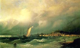 View of Theodosia, 1845 by Aivazovsky | Painting Reproduction