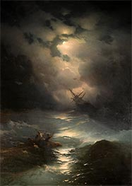 Storm in the North Sea, 1865 by Aivazovsky | Painting Reproduction