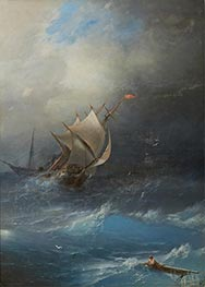 Storm in Arctic Ocean, 1864 by Aivazovsky | Painting Reproduction