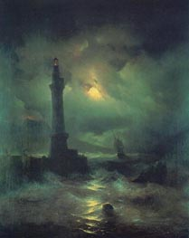 The Neapolitan Beacon | Aivazovsky | Painting Reproduction