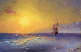 At the Crimean Coast | Aivazovsky | Painting Reproduction