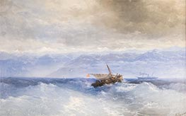 Caucasus Mountains from the Sea | Aivazovsky | Painting Reproduction
