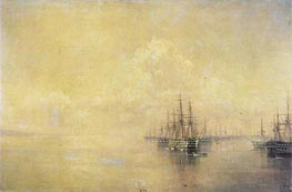 Squadron of the Black Sea Fleet Entering Sevastopo | Aivazovsky | Painting Reproduction