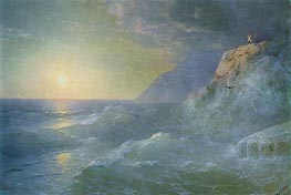 Napoleon on Saint Helena, 1897 by Aivazovsky | Painting Reproduction