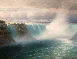 Niagara Falls, 1893 by Aivazovsky | Painting Reproduction