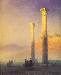 The Acropolis in Athens | Aivazovsky | Gemälde Reproduktion