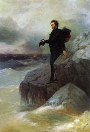 Pushkin bids Farewell to the Black Sea | Aivazovsky | Painting Reproduction