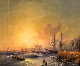 Malaga, Seascape, 1854 by Aivazovsky | Painting Reproduction