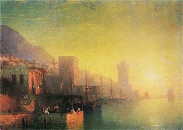 On the Island of Rhodes | Aivazovsky | Painting Reproduction