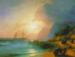 On the Island of Crete, 1867 by Aivazovsky | Painting Reproduction