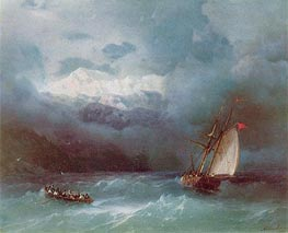 Stormy Sea | Aivazovsky | Painting Reproduction
