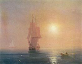 The Sea, 1878 by Aivazovsky | Painting Reproduction