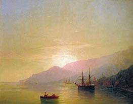 Ships at Anchor, 1851 by Aivazovsky | Painting Reproduction