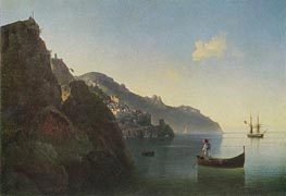The Coast near Amalfi, 1841 by Aivazovsky | Painting Reproduction