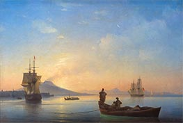 The Bay of Naples in the Morning | Aivazovsky | Gemälde Reproduktion