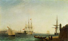 Malta, Valletta Harbour, 1844 by Aivazovsky | Painting Reproduction