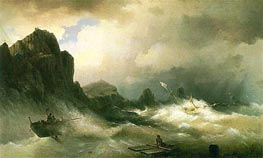 Shipwreck, 1843 by Aivazovsky | Painting Reproduction