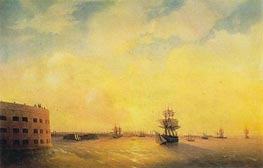 Kronstadt, the Menshikov Fort, 1844 by Aivazovsky | Painting Reproduction