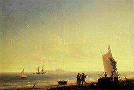 View of Capri, 1845 by Aivazovsky | Painting Reproduction