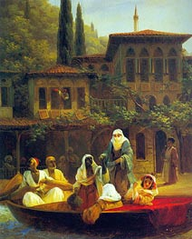 Boat Ride by Kumkapi in Constantinople, 1846 by Aivazovsky | Painting Reproduction