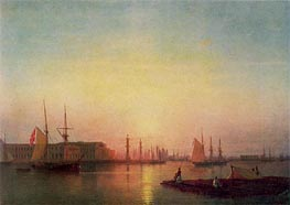 The St. Petersburg Stock Exchange, 1847 by Aivazovsky | Painting Reproduction