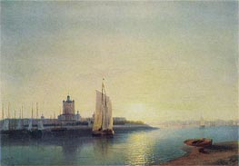 St. Petersburg, the Smolny Convent, 1849 by Aivazovsky | Painting Reproduction