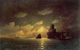 Moonlight Night, 1849 by Aivazovsky | Painting Reproduction