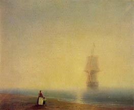Morning at Sea, 1849 by Aivazovsky | Painting Reproduction