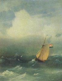 Storm at Sea, 1847 by Aivazovsky | Painting Reproduction