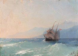Shipping on the Black Sea, c.1878 by Aivazovsky | Painting Reproduction