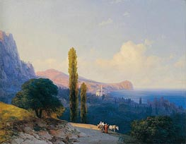 The Coast of the Dardanelles, 1860 by Aivazovsky | Painting Reproduction