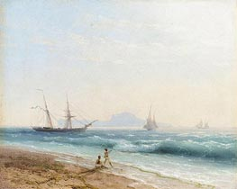View of Ischia, 1872 by Aivazovsky | Painting Reproduction