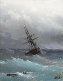 The Storm, 1881 by Aivazovsky | Painting Reproduction