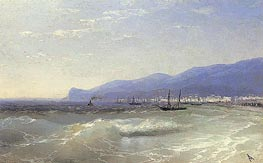 View of Theodosia, 1897 by Aivazovsky | Painting Reproduction