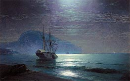 Moonlight in Ayu Dag, Crimea | Aivazovsky | Painting Reproduction