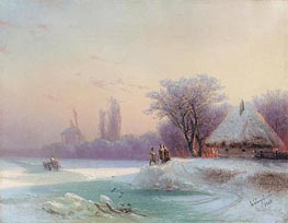 Perils of Winter Travel in the Russian Provinces | Aivazovsky | Painting Reproduction