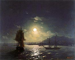Shipping by a Moonlit Coast | Aivazovsky | Painting Reproduction