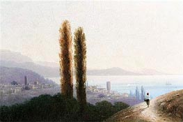 View of Crimea, 1889 by Aivazovsky | Painting Reproduction