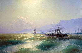 Gunboat off Crete | Aivazovsky | Painting Reproduction