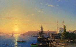 View of Constantinople and the Bosphorus | Aivazovsky | Painting Reproduction