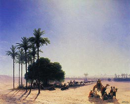 Caravan before the Pyramids, 1871 by Aivazovsky | Painting Reproduction