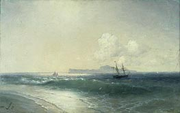 Tallinn Harbour, 1898 by Aivazovsky | Painting Reproduction