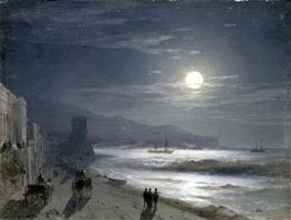 Moon Night, 1885 by Aivazovsky | Painting Reproduction