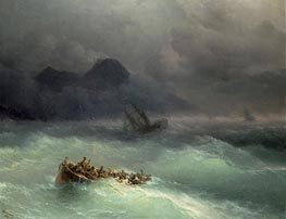 The Shipwreck, 1873 by Aivazovsky | Painting Reproduction