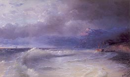 Shipwreck on a Stormy Morning, 1895 by Aivazovsky | Painting Reproduction
