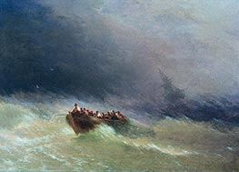 Survivors, 1880 by Aivazovsky | Painting Reproduction