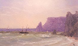 Sea off the Cliffs, undated by Aivazovsky | Painting Reproduction
